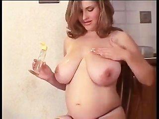 गर्म गर्भवती महिला Masturbates