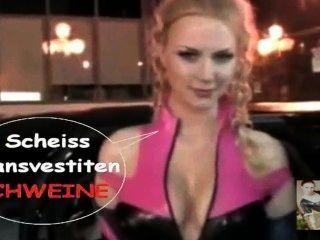 मरने लेटेक्स नौकरानी Luder टीवी शो Scheiss Transvestitenschweine Ausrotten