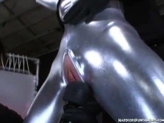 चांदी Fullbody सूट और दिया जादू की छड़ी थरथानेवाला उपचार