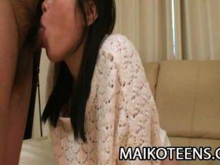 Akari माएदा - आकर्षक जापानी किशोरों मलाईदार सह के साथ भरा