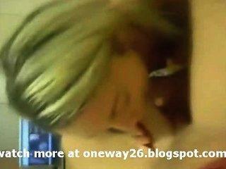 भयानक Blondie Blowjob दे