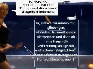 बियांका Bauchamp लेटेक्स नौकरानी शो Scheiss Transvestitenschweine Ausrotten